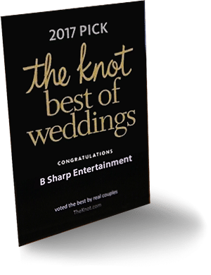 "2017 Pick - The Knot ""Best Of Weddings"". Congratulations B-Sharp Entertainment"